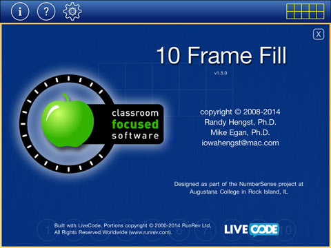 10 Frame Fill | Classroom Focused Software