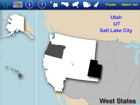 US States & Capitals Puzzle Match   Classroom Focused Software